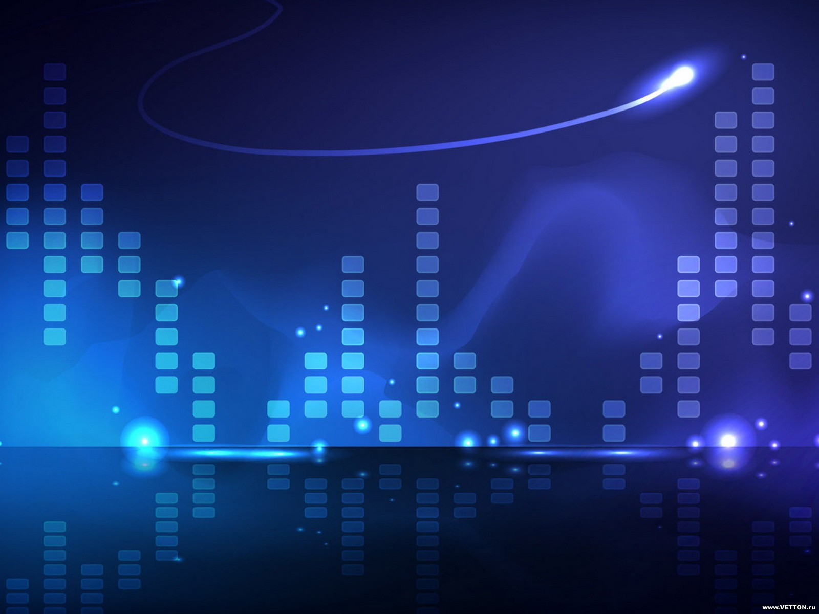 Blue and black music background